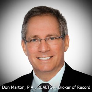 Don Marton, P.A.,REALTOR, Broker of Record
